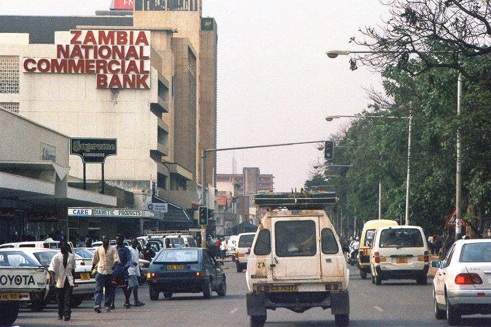 Lusaka Zambia  city photo : ... down Independence Avenue in downtown Lusaka, Zambia — November 1998