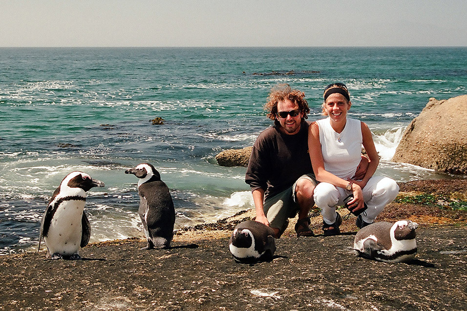 Brian Jessica And Some Penguins Boulders Beach South Africa March 5 1999